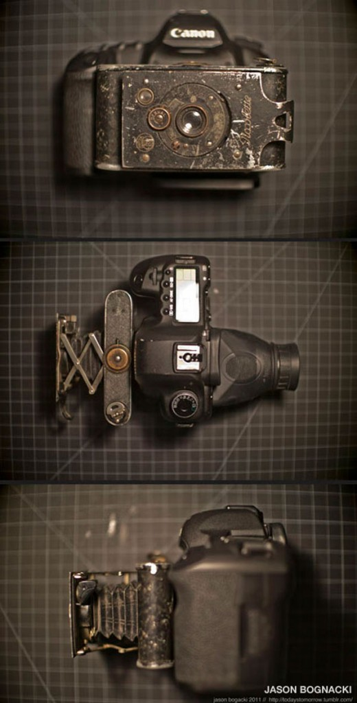 5d Mark II view camera 520x1024 Canon 5D Mark II with old lens