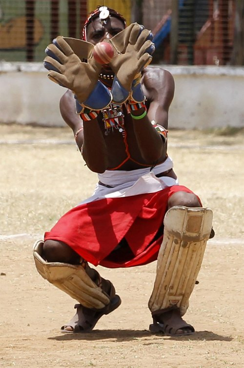 628 Kenya's Maasai 'Warriors' Campaign for Healthy Lifestyle by Playing Cricket