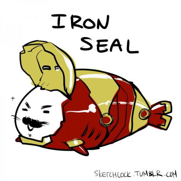 baby seal avengers ironman 750x750 Baby Seal Avengers