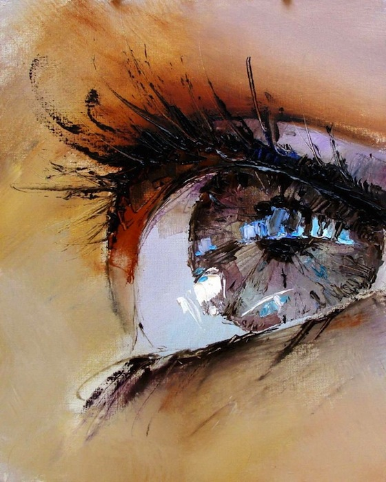 pavelguzenkoeyepaintings1 Spectacular Oil Paintings of Twinkling Eyes