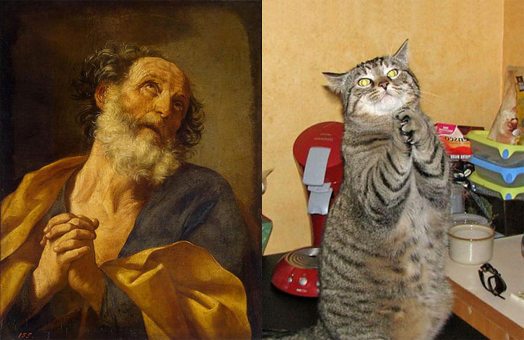 1416 The Copycats: Cats Imitating Famous Works Of Art