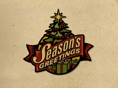 seasons greetings logo Christmas & Holiday Inspired Logo Designs