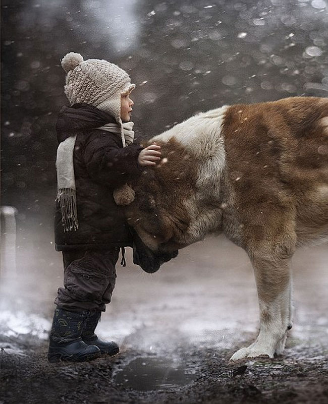 590 Mothers Intimate Photographs Capture Her Sons Special Bond with Animals