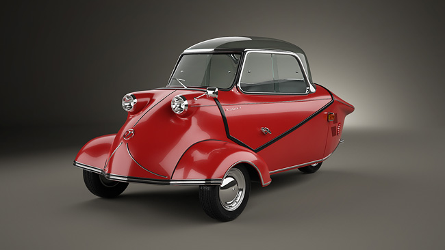 Messerschmitt KR200 1952 1 Five Rare Cars   3D Reconstruction
