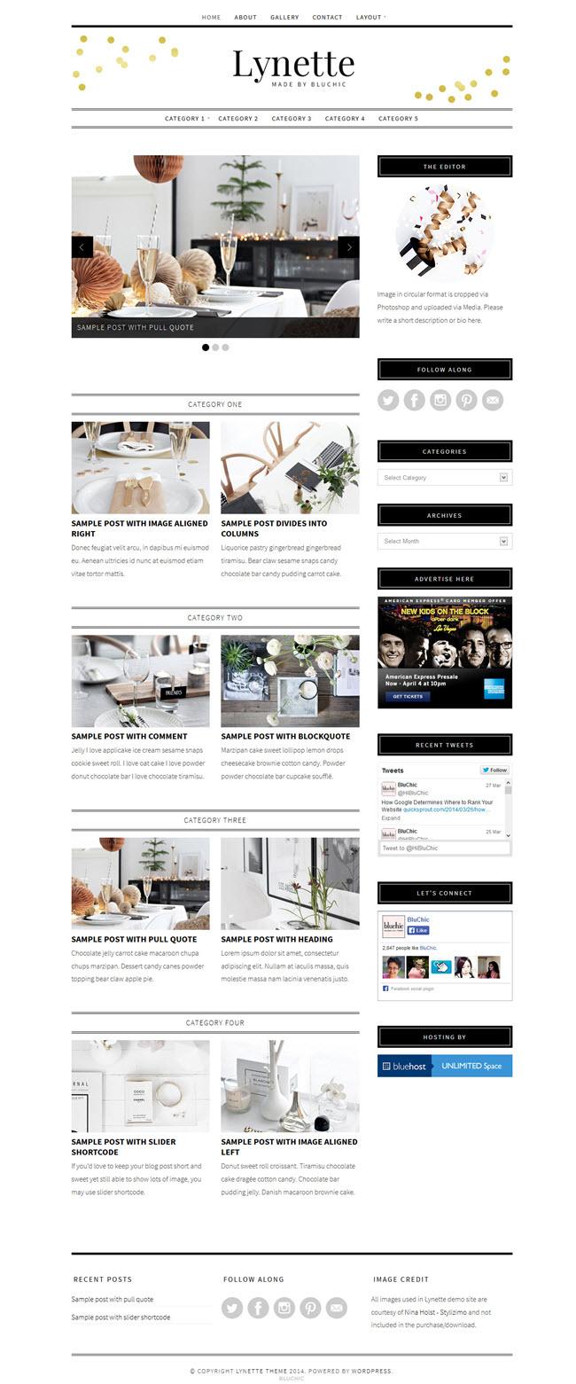 lynette screenshot1 Best Stylish & Feminine WordPress Themes for Women