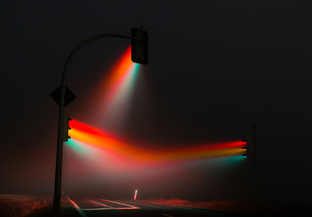 1388427076 1 640x445 Traffic Lights in a Misty Night by Lucas Zimmermann