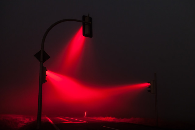 1388427076 2 640x426 Traffic Lights in a Misty Night by Lucas Zimmermann