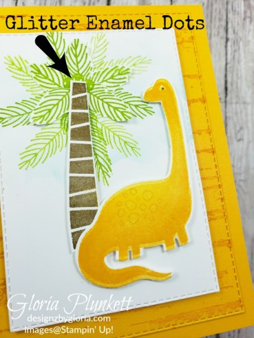 Dino days stamp set, dino dies, rectangle stitched dies, glitter enamel dots, splitcoaststampers, mango melody cardstock, memento tuxedo black ink, black stazon ink,    thick whisper white cardstock, whisper white cardstock,  stamparatus, aqua painters, blender pens, clear wink of stella, stampin' trimmer, very vanilla cardstock, sponge daubers,  dimensionals, paper snips, multipurpose liquid glue take your pick, SNAIL adhesive, stampin' up! Demonstrator, how to, diy handmade, homemade, rubber stamping, greeting card, crafts cardmaking