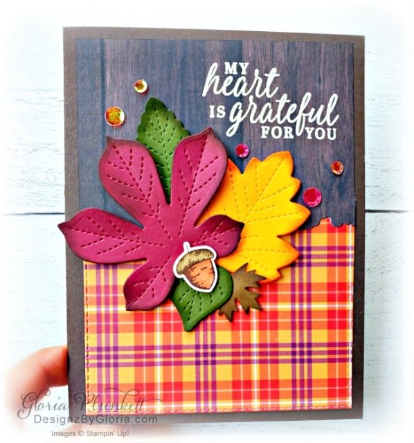 """Love of leaves stamp set, plaid tidings designer series paper, stitched rectangle dies, ornate thanks stamp set, hammered metal 3d embossing folder, poppy moments dies, jar of flowers stamp set, layering square dies, Playful alphabet dies, gather together stamp set, pet dies, whale builder punch, playful pets designer series paper, whale of a time dsp, 3/8"""" sheer ribbon, whale of a time sequins, Gold hoop embellishments, free as a bird stamp set, magenta madness cardstock, cinnamon cider cardstock, just jade cardstock, magenta madness cardstock, jar punch, ornate garden specialty designer series paper, itty bitty greetings, pear pizzazz cardstock, seaside spray cardstock, pressed petals specialty designer series paper, botanical prints product medley, detailed band dies, ornate layers dies, Ornate style stamp set, ornate garden specialty designer series paper, ornate layers dies, grapefruit grove cardstock, gold glitter enamel dots, coastal weave 3d embossing folder, basket weave embossing folder, a wish for everything stamp set, word wishes dies, ornate layers dies, ornate floral 3d embossing folder, ornate garden ribbon, ornate garden specialty designer series paper, best dressed 6"""" x 6"""" dsp, pear pizzazz classic ink, sponge daubers, peaceful moments stamp set, subtles embossing folder, rectangle stitched dies, saddle brown stazon ink, blushing bride cardstock, from my heart faceted gems, pear pizzazz classic ink, pleased as punch designer series paper, granny apple green cardstock, basic black cardstock, gorgeous grape cardstock, rococo rose light and dark stampin' blends, granny apple green dark and light stampin' blends, watercolor pencils, blender pen, petal pink cardstock, stitched so sweetly dies, rectangle stitched framelits, 5/8"""" whisper white flax ribbon, real red rhinestones, silicone craft mat, white embossing powder, versamark ink pad, heat tool, watercolor paper, crumb cake cardstock, tear & tape, 1"""" circle punch, simply scored, paper trimmer, Paper S"""