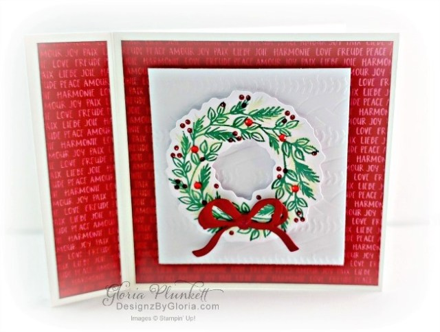 """Christmastime is here designer series paper, Detailed loves dies, Wreath builder dies, arrange a wreath stamp set, poinsettia dies, vellum cardstock, slimline, tall, apple builder punch, autumn eaves punch pack, plaid tidings designer series paper, stitched rectangle dies, ornate thanks stamp set, hammered metal 3d embossing folder, poppy moments dies, jar of flowers stamp set, layering square dies, Playful alphabet dies, gather together stamp set, pet dies, whale builder punch, playful pets designer series paper, whale of a time dsp, 3/8"""" sheer ribbon, whale of a time sequins, Gold hoop embellishments, free as a bird stamp set, magenta madness cardstock, cinnamon cider cardstock, just jade cardstock, magenta madness cardstock, jar punch, ornate garden specialty designer series paper, itty bitty greetings, pear pizzazz cardstock, seaside spray cardstock, pressed petals specialty designer series paper, botanical prints product medley, detailed band dies, ornate layers dies, Ornate style stamp set, ornate garden specialty designer series paper, ornate layers dies, grapefruit grove cardstock, gold glitter enamel dots, coastal weave 3d embossing folder, basket weave embossing folder, a wish for everything stamp set, word wishes dies, ornate layers dies, ornate floral 3d embossing folder, ornate garden ribbon, ornate garden specialty designer series paper, best dressed 6"""" x 6"""" dsp, pear pizzazz classic ink, sponge daubers, peaceful moments stamp set, subtles embossing folder, rectangle stitched dies, saddle brown stazon ink, blushing bride cardstock, from my heart faceted gems, pear pizzazz classic ink, pleased as punch designer series paper, granny apple green cardstock, basic black cardstock, gorgeous grape cardstock, rococo rose light and dark stampin' blends, granny apple green dark and light stampin' blends, watercolor pencils, blender pen, petal pink cardstock, stitched so sweetly dies, rectangle stitched framelits, 5/8"""" whisper white flax ribbon, real red rhinesto"""