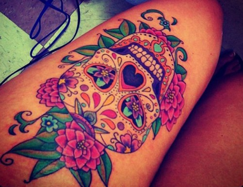 Mesmerizing Mexican Sugar Skull Tattoo Collection Designzzz