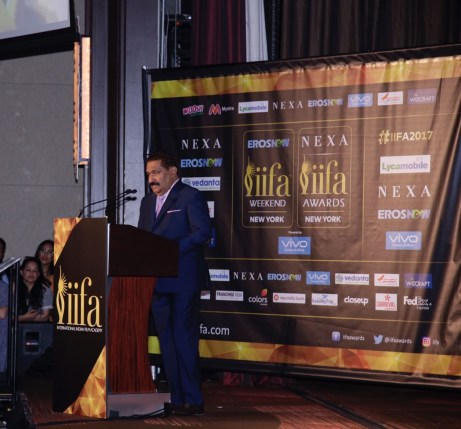 Sabbas Joseph Director- Wizcraft International, the producers and creator of the IIFA movement at the IIFA New York Press Conf