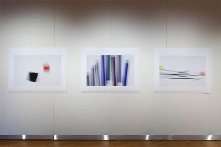Extraits de la série «Fading Icons», 2011-2012, vue partielle de l'exposition «Entre des fragments de choses, d'espace et de temps », Maison des arts, Laval, 2012 - commissaire: Patrice Loubier (photo: Guy L'Heureux)