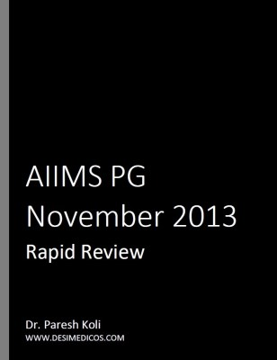 AIIMS PG Nov 2013 Rapid Review cover