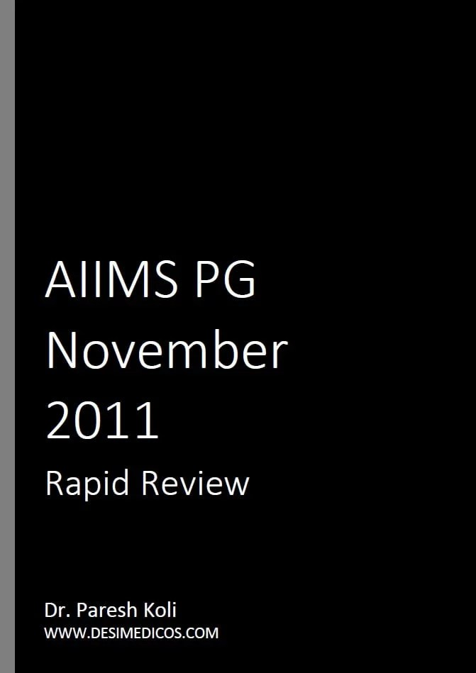 AIIMS PG November 2011 Rapid Review cover