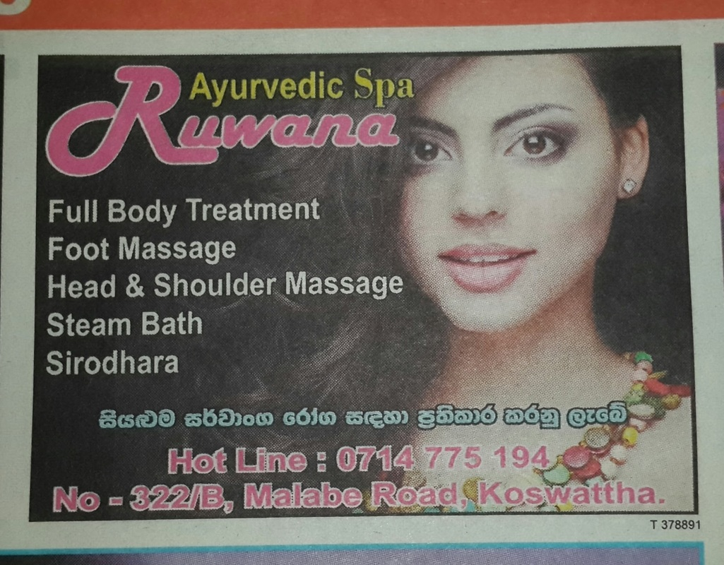 Massage parlours and spa in Colombo Classified ads in The