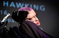 "British theoretical physicist professor Stephen Hawking gives a lecture entitled: ""A Brief History of Mine"" during the Festival Starmus Festival on the Spanish Canary island of Tenerife on June 29, 2016. At the end of the Festival Starmus a medal will be awarded to Stephen Hawking, the new award for science communication is in honour of Professor Stephen Hawking and recognises the work of those helping to promote public awareness of science through music, arts and cinema."