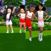 Sims 4: Toddler/Kids Cheerleading Outfit CC