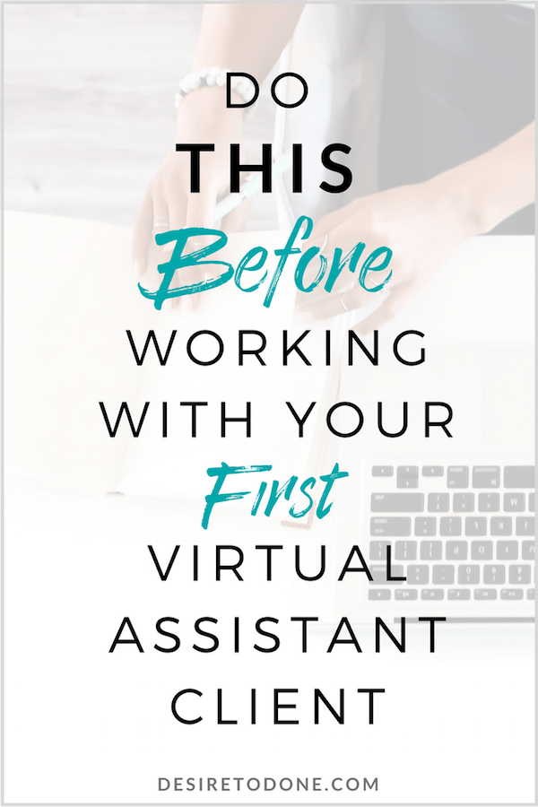 It can be scary to work with a new person and a new business (especially when you're just starting out). But if you do this ONE THING you'll save yourself a lot of stress and scrambling when it's time to set up and work with a new client.