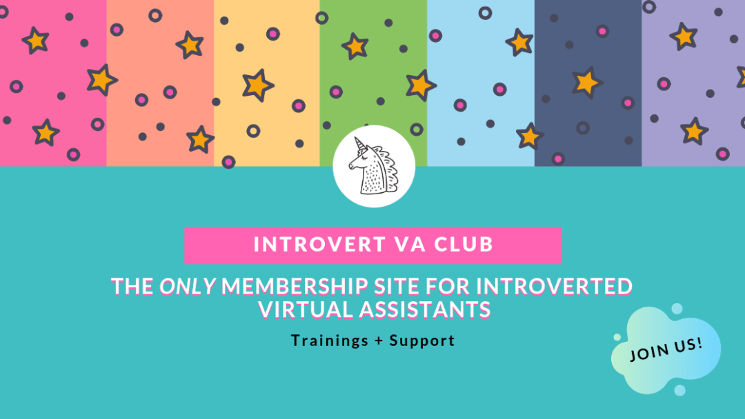 Looking for the perfect career as an introvert? Why not package up your passions and skills and start your own virtual assistant business? Click to join us in the Introvert VA Club and learn how to become a virtual assistant.