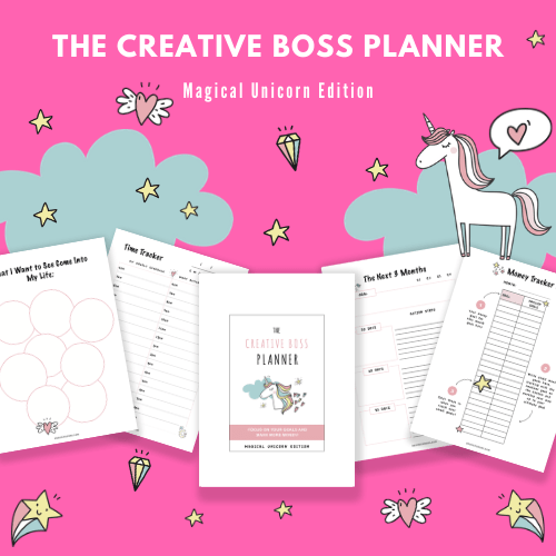 Set BIG goals and make them happen with The Creative Boss Planner!