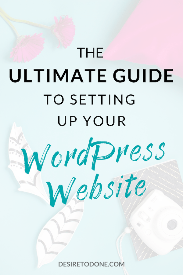 Ready to set up your WordPress website but no clue where to begin? I'll show you step-by-step (with screenshots) so that you can set up your site in no time! #wordpress #tutorial #virtualassistant #website