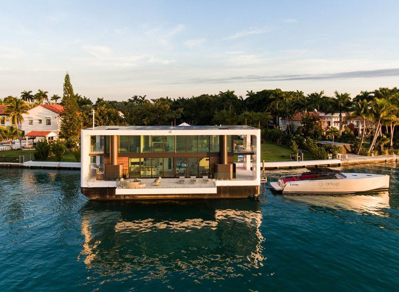 could this luxe floating house be a solution to rising waters in miami?