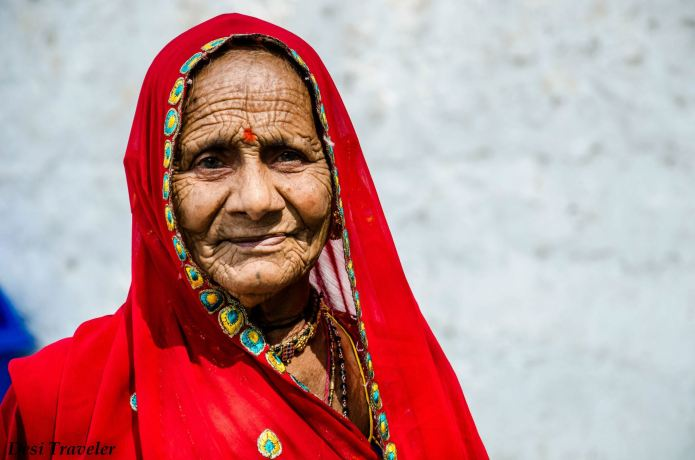 portrait of old indian women