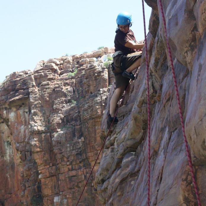 Jamila Climbing