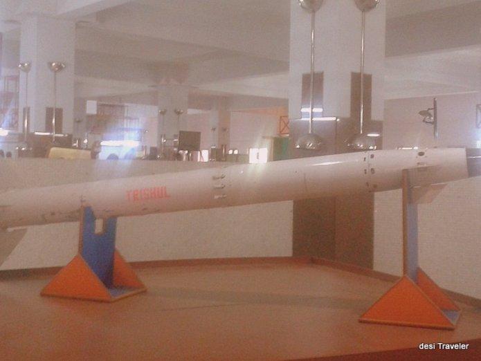 Trishul Missile Birla Science Museum and Planetarium Hyderabad