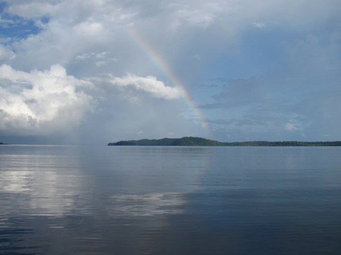 A rainbow over Andaman and Nicobar Island