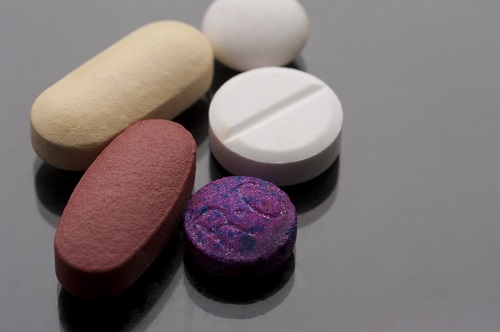 colorful medicine tablets