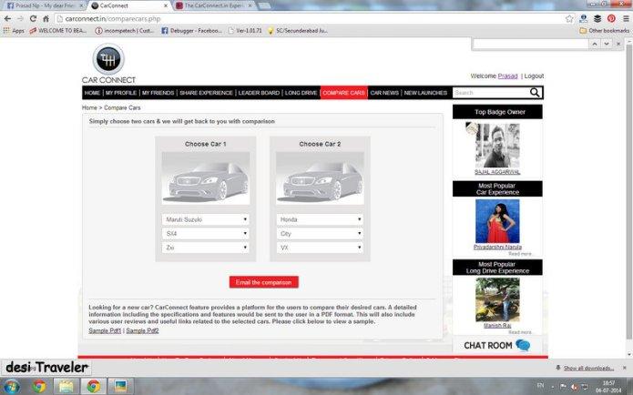 Online Car Comparison