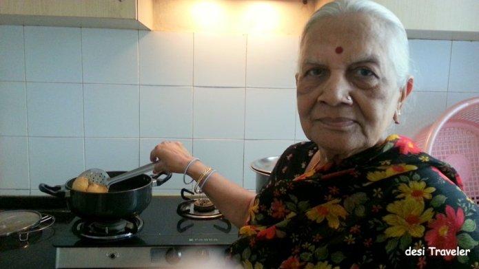 Making Nagori Puri Kadhai India