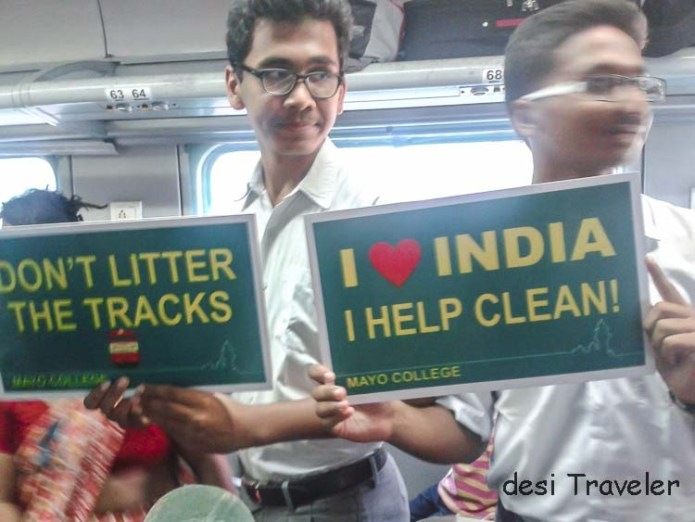 Mayo College Ajmer Students campaign for clean India