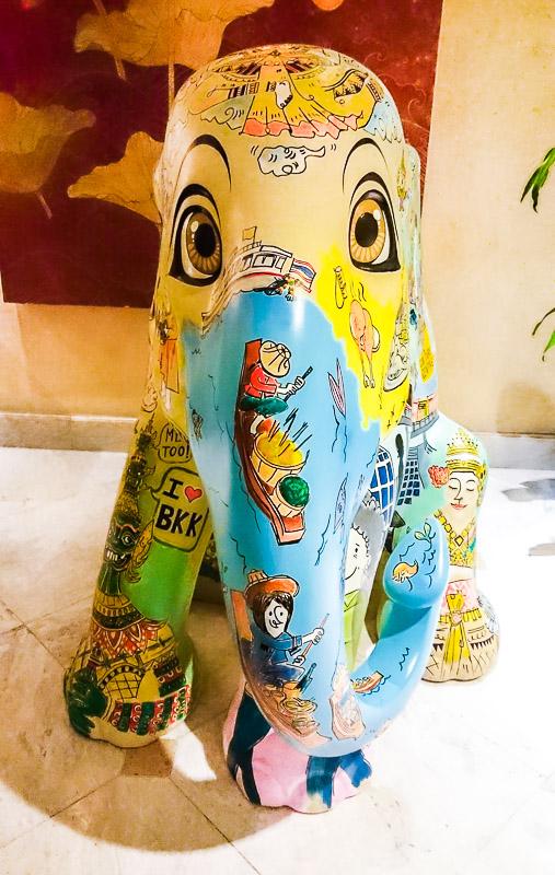 Painted Elephant Parade Bangkok Thailand