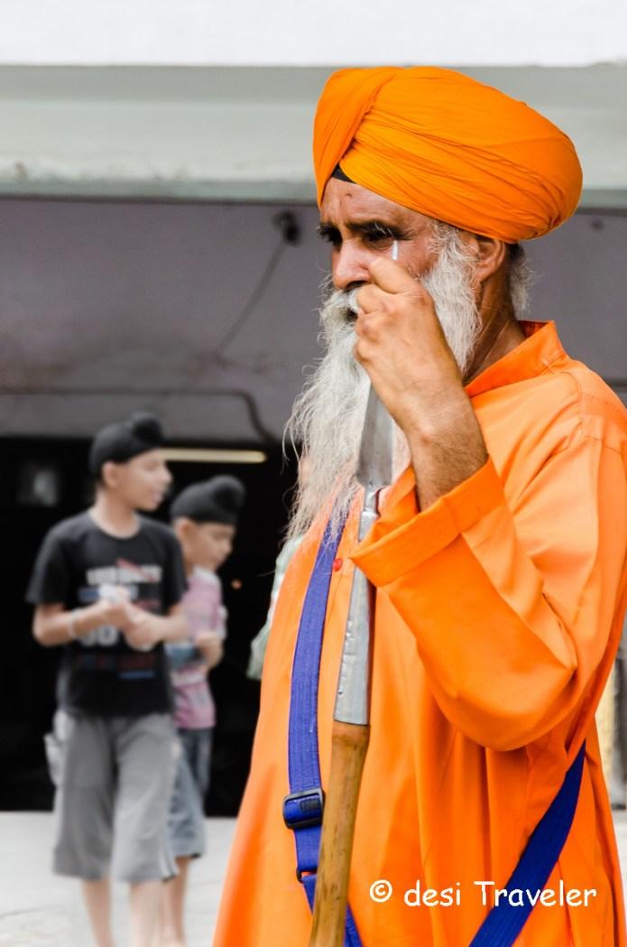 Old Sikh Nihang Guard