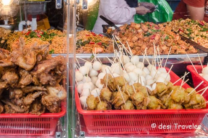 Street Food on stick Singapore