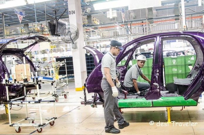 Tata Nano car plant assembly line