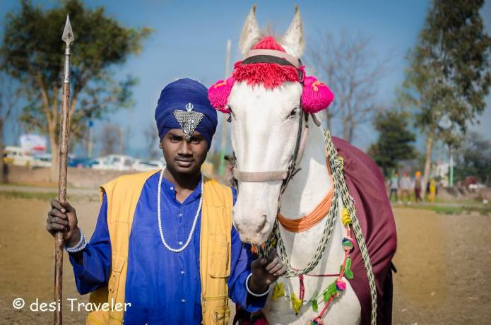 A young nihang with horse