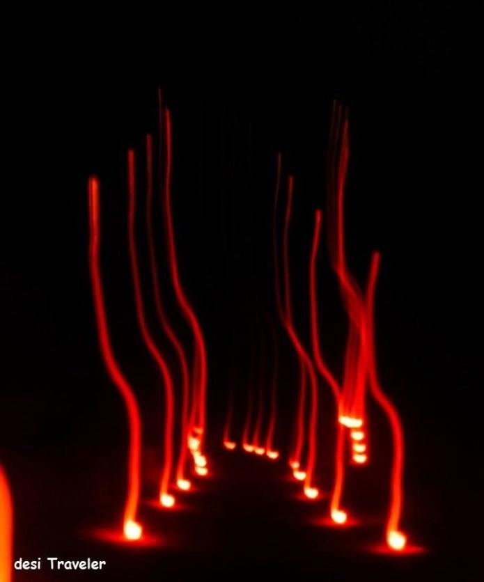petra at night candles