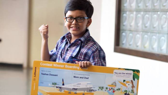 Lufthansa contest winner yashas
