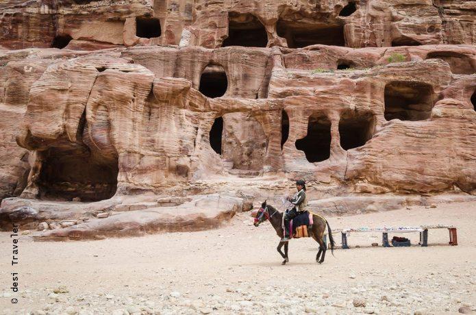 Solo traveler Donkey Bedouin Petra Jordan