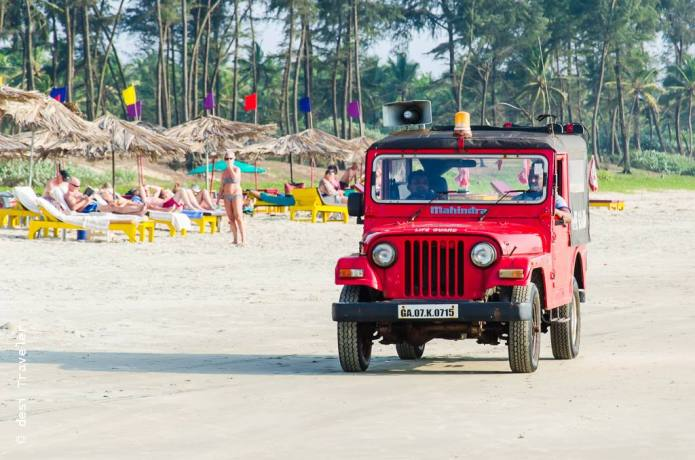 Lifeguard Jeep Goa Beach Patrol