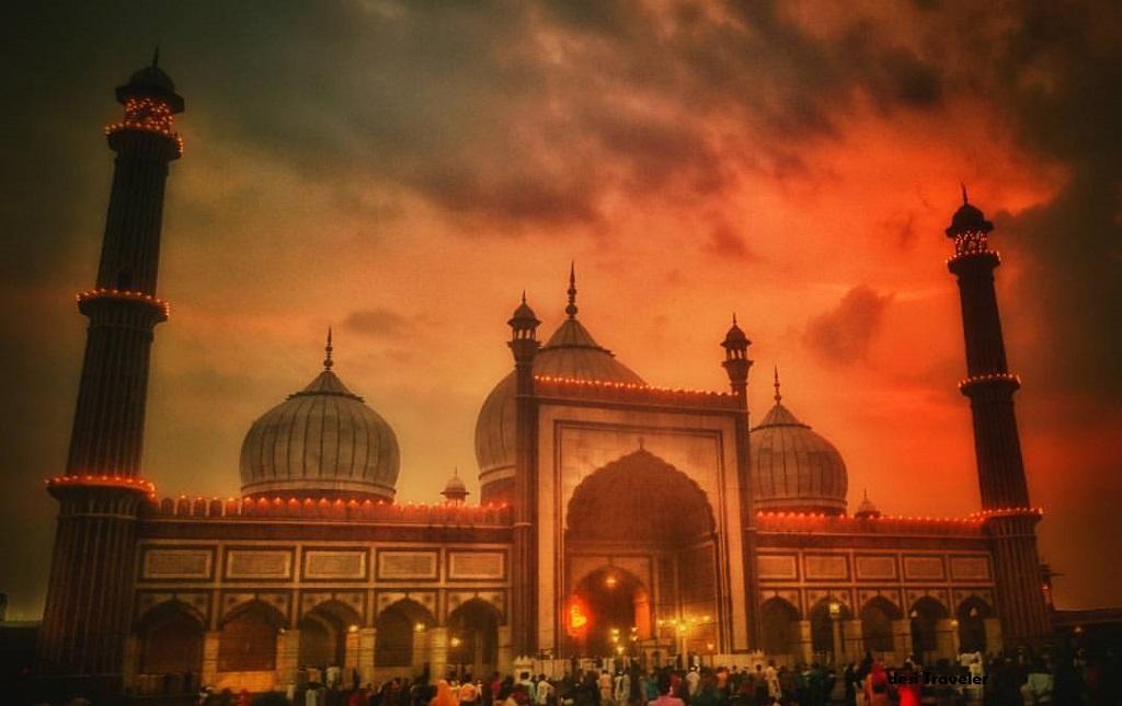 Jama Masjid Delhi in rains