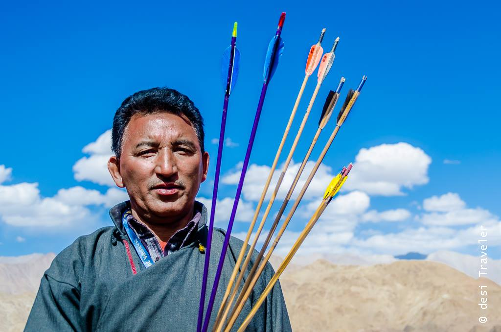 Portrait of a Ladakhi Archer Leh