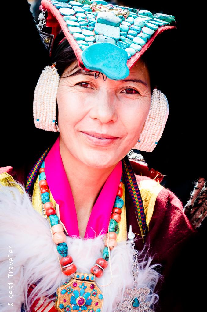 Tradtitional Ladakh Women dress Headgear