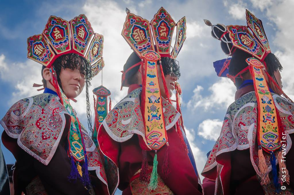 Ladakhi women headgear