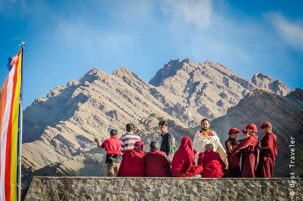 Monks in Hemis Monastery