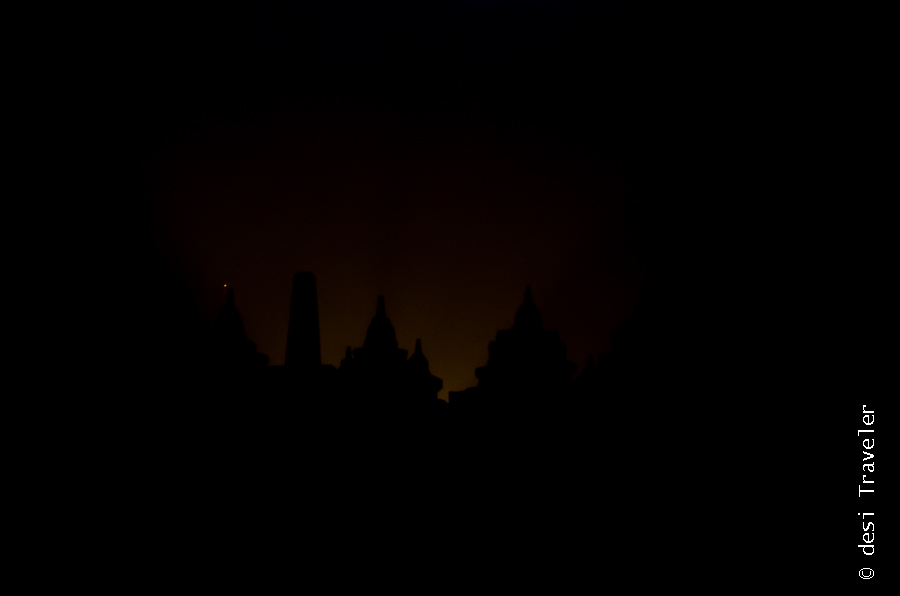Sunrise at Borobudur UNESCO Heritage Site Indonesia
